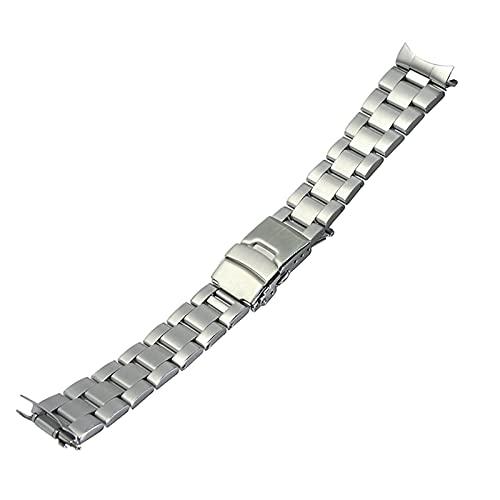 RVTYR Correa de Reloj, Pulsera de Correa de reemplazo 22 mm Pulsera de Correa de Metal de Acero Inoxidable de 22 mm Correas de Repuesto (Color : 22mm, Size : Silver)