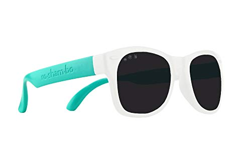 Roshambo Baby Shades, Polarized 90210 (Teal/White)