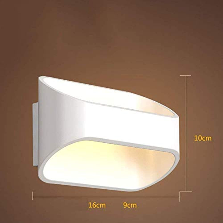 Oudan LED Wandleuchte Schlafzimmer Nachttischlampe elektrische Glühbirnen (weie Farbe Persnlichkeit Treppe Balkon Korridor) (Farbe   Wei)