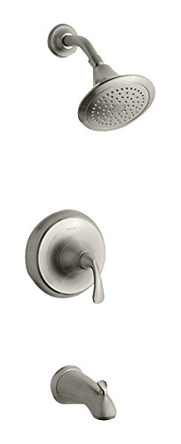 Kohler TS10274-4-BN FORTÉ B/S Trim, NPT-Sculpted, 1, Vibrant Brushed Nickel