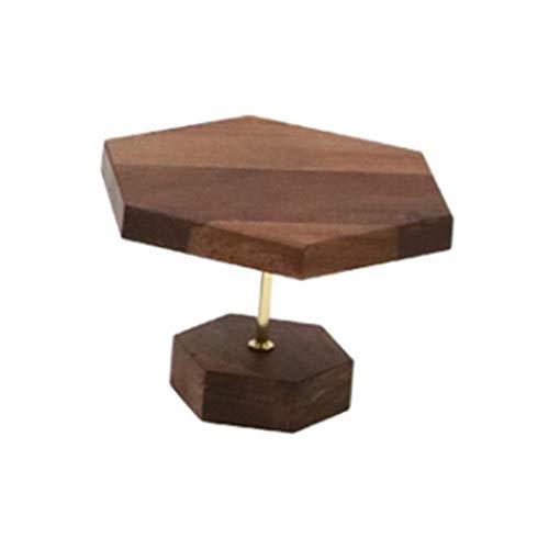 Fransande Soporte de joyería para pendientes de madera de nogal, soporte de exhibición de joyas, para ventana, pequeño