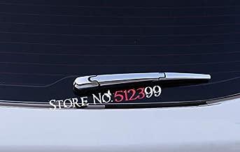 Alina-Shops - 3Pcs/ set Chrome Rear Window Windscreen Wiper Blade Arm Spindle Cover Trim For Hyundai Creta ix25 Cantus 2014 2015