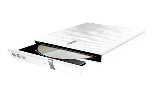 Asus SDRW-08D2S-U Lite externer Slim DVD Brenner (8x DVD±R, 6x DVD±R DL, 5x DVD-RAM, USB 2.0) inkl. Cyberlink Power2Go, Hochglanz Weiß