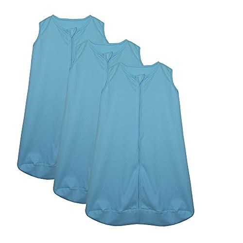 Kit 3 Saco de Dormir Bebê Azul Enxoval Pijama 100% Algodão