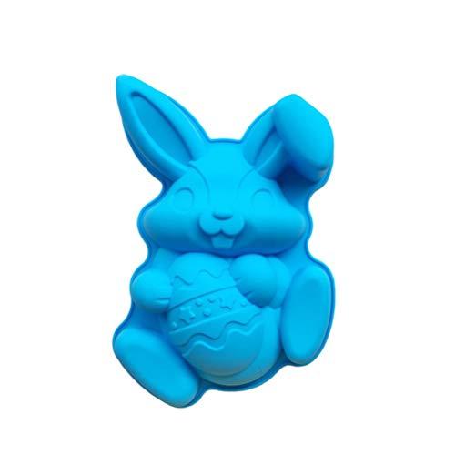 Amosfun Stampo in Silicone per Tortiera in Silicone Coniglietto Antiaderente in Silicone per Cuocere Il Dolce della Torta del Giorno di Pasqua
