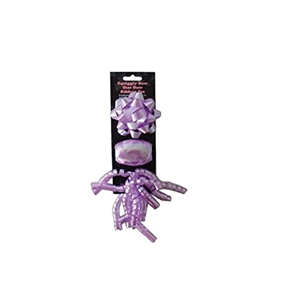 JT Gift Wrapping Purple Gift Wrapping Bow and Ribbon Set-24 Pack