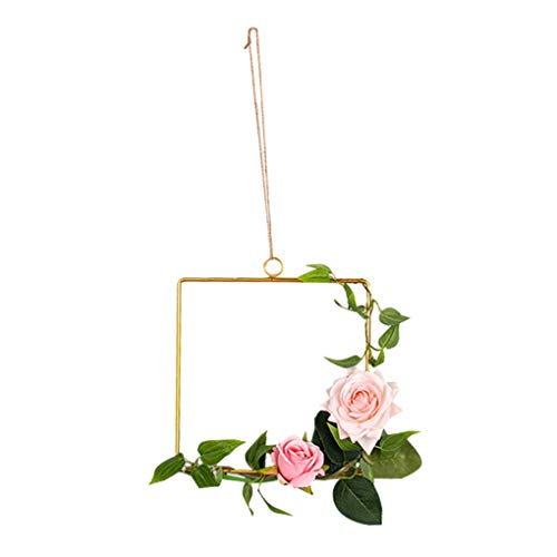 weilifang Geometric Metal Hangings Nordic Wall Decor Decal Geometric Metal Decorations with Hook Lp for Home Living Room Bedroom,