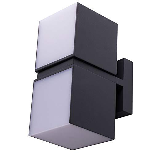 LED Außen Wand Lampe Terrassen Strahler UP DOWN Würfel Alu Leuchte verstellbar LUTEC 5193801118