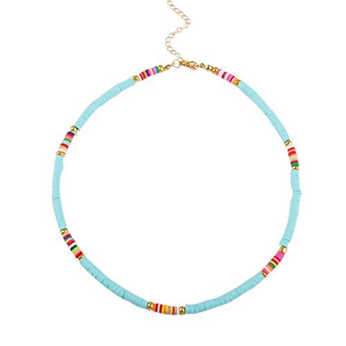 LifeBest Gargantilla de 4MM para Mujer, joyería Bohemia, Collares de Cuentas de Colores, Vestido de Mujer para Vacaciones de Verano, Ropa