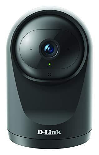 D-Link DCS-6500LH mydlink Compact Full HD Pan&Tilt Wi-Fi Camera (Nachtsichtfunktion, Bewegungs- und Geräuscherkennung, App/Cloud/SD Card Video Recording, 2-Way Audio, WPA3, Alexa, Google Assistant)
