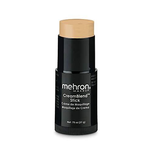 stick foundation makeups Mehron Makeup CreamBlend Stick - Foundation (.75 oz) (LIGHT BUFF)