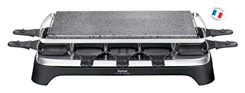 Tefal PR4578 Pierrade Raclette für 10 Personen mit abnehmbarer Grillplatte, 1350 W, schwarz/edelstahl