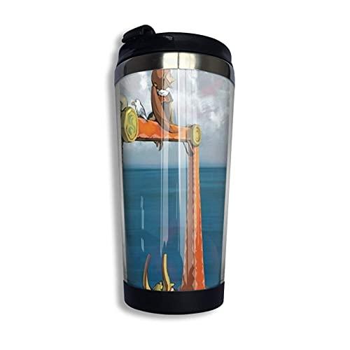 DJNGN Wind Waker-Lone Ocean Taza de viaje para café Taza de doble pared de acero inoxidable con aislamiento al vacío Tazas de vaso 13.5 oz