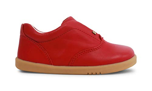 Bobux I-Walk Duke Shoes_Caminantes - Una Zapatilla Deportiva de Piel de Suela Flexible y Resistente. (Rio Red, 23)