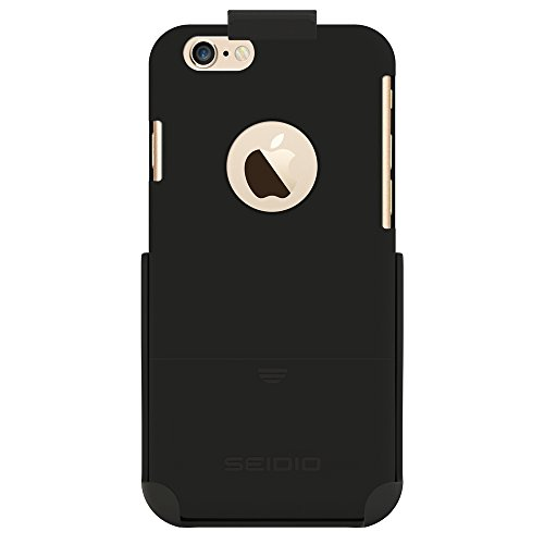 Seidio SURFACE Reveal Case & Belt-Clip Holster for iPhone 6 ONLY [Slim Protection] - Retail Packaging - Black