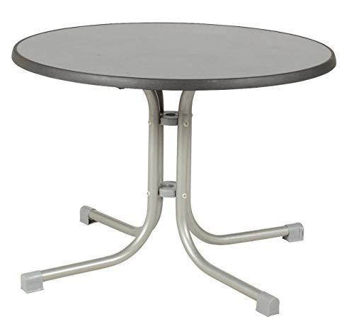 acamp Tisch Piazza 56671 Durchmesser 70 cm Platin Gestell puntinella Tischplatte 72 cm hoch