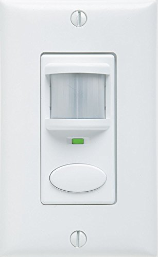 SENSORSWITCH WSD-PDT-VA-WH ACUITY Wall Switch Decorator Sensor, Dual Technology, Vacancy Only, White WSD PDT VA WH