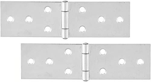 SECOTEC Scharnier breit 33x120 mm | Stahl verzinkt | Tischband nach DIN 7957 | 2 Stück