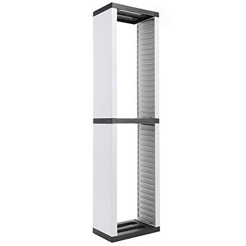 CD Shelf Storage Tower, CD Disk Storage Rack, CD Protective Stand für 36 Spiele, DVD/CD Holder Tower für PS5/Switch