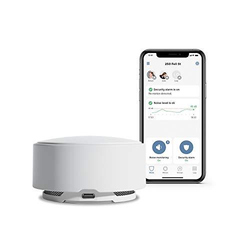 MINUT MT-P2 Smart-Home Zentrale und Raumüberwachung für Geräuschpegel, Bewegung, Temperatur, Rauchmelder, Glasbruch, Luftfeuchtigkeit und mehr via WLAN (iOS/Android/Alexa/HomeKit/Google Integration)