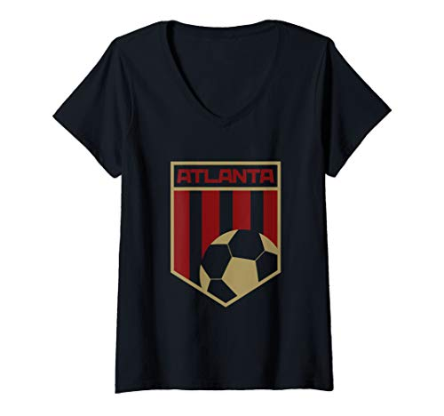 Womens Atlanta Soccer Jersey Style United Football Men Women Kids V-Neck T-Shirt
