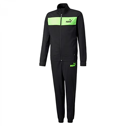 PUMA Jungen Poly Suit Cl B Trainingsanzug, schwarz, 10 años