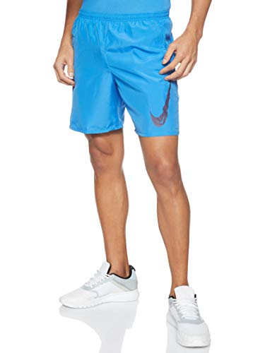 Nike M NK Run Short 7IN WR BF PO GX Sport Homme, Pacific Blue/(Imperial Purple), FR : L (Taille Fabricant : L)