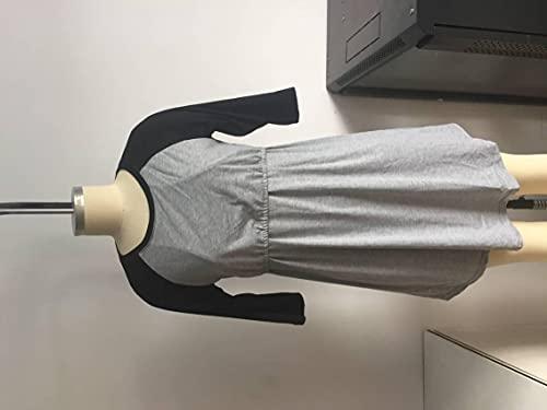 QiKun-Home Vrouwen Zachte Elastische Ademend Moederschap Jurk Verpleging Jurk Nachthemd Nachtkleding voor Discrete Borstvoeding Zwangerschap zwart XL