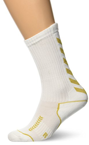 hummel Kinder Socken Advanced long Indoor, white/gold, 32 - 35 ( 8 ), 21-059-9018_9018