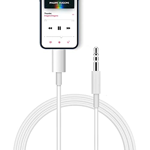 Anupow Auto AUX Kabel, Aux Kabel auf 3,5mm Premium-Audio Kabel für Auto Stereo/Kopfhörer/Lautsprecher System/Home/Auto-Stereoanlagen für iPhone 12/12 Pro Max / 11/11 Pro/XS/XS Max/SE (Weiß)