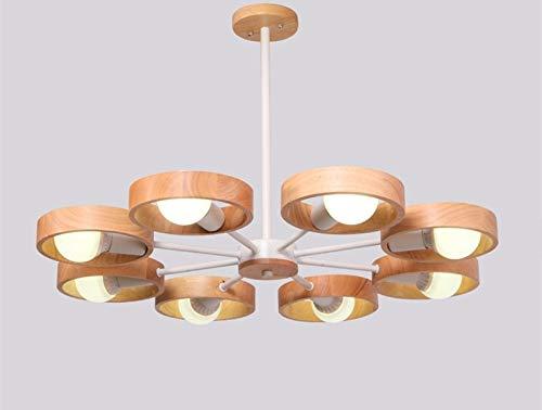 RDYL creatieve massief houten kaars kandelaar kroonluchter persoonlijkheid LED cirkel nacht hanglamp woonkamer plafond lamp slaapkamer café decoratie hanglamp E27
