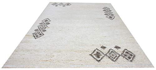 Original Berber Teppich 6 Gemustert 15/15 Double (ca. 90.000 Florfäden/m2), handgeknüpft in Marokko, Material: 100% Schurwolle. (250 x 350 cm)