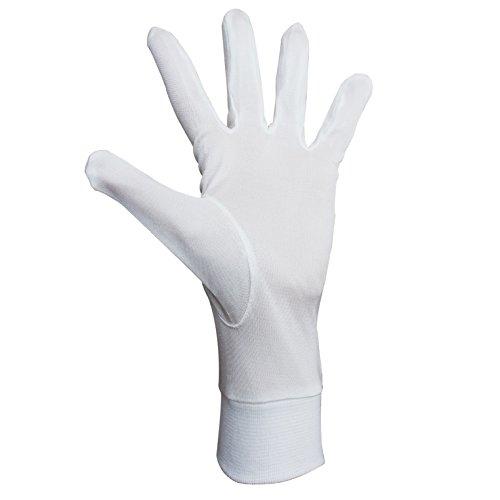 Jasmine Silk Seide Handschuhe Silk Glove Innenhandschuh Unterziehhandschuh Elfenbein (Medium)