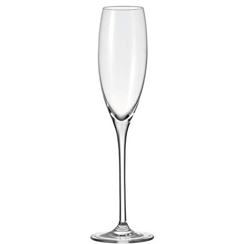 Leonardo Cheers Sekt-Gläser, 6er Set, spülmaschinenfeste Prosecco-Gläser, Sekt-Kelch mit gezogenem Stiel, Champagner-Gläser Set, 220 ml, 081435