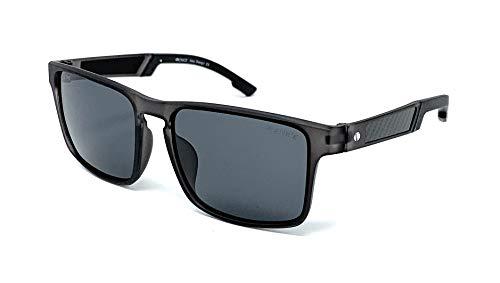 Gafas De Sol Venice para hombre, Lentes Polarizadas, material TR90, ULTRALIGERAS y RESISTENTES con Protección 100% UV400 (Grey)