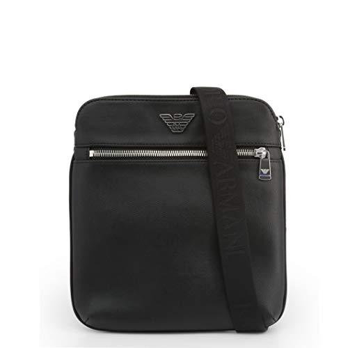 Emporio Armani Umhängetasche aus Nylon/Leder, Schwarz (schwarz), Einheitsgröße