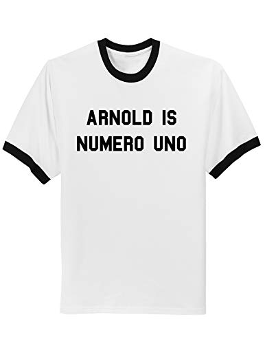 lkkk Arnold is Numero Uno Weightlifting Ringer T-Shirt,Camisetas y Tops(X-Large)