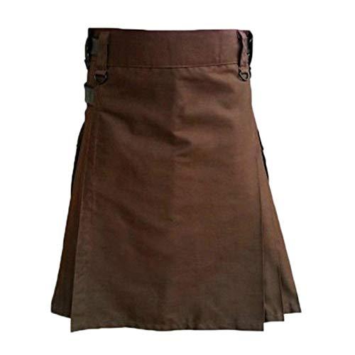 Pantalones Personalizables para Hombre Vintage Kilt Scotland Gothic Kendo Pocket Faldas Ropa Escocesa Falda Plisada Pantalones