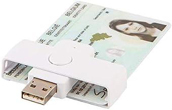 eID Smart Card Reader - ACS ACR39U-N1 Pocketmate II - USB type A (white) - Belgium id card