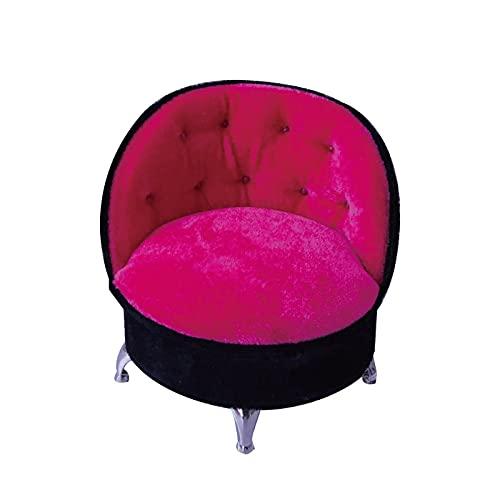 LEEleegang 1/6 Dollhouse Fancy Couch Sofa Rose Pink Schmuck Aufbewahrung Organizer Box Flip Can Open Fächer Sessel Sofa Box Geschenk klare Stempel für Scrapbooking und Karten Machen Blumen