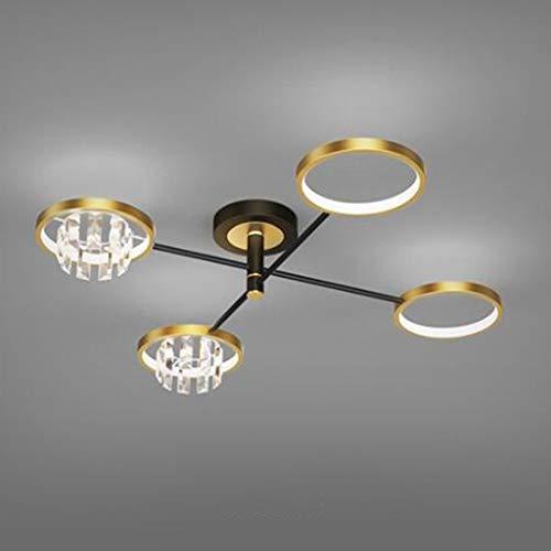 Pointhx Lámpara de Techo de Montaje Empotrado, iluminación de Techo LED de Cristal Regulable, lámpara de Techo Moderna para Sala de Estar, Dormitorio, Comedor, 40-80w