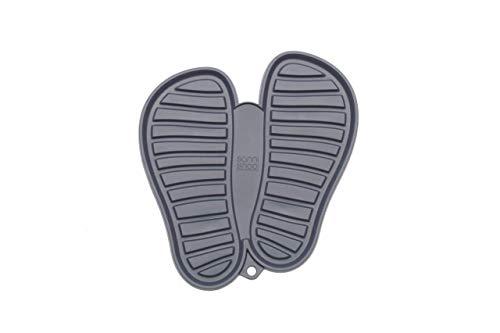 Sanni Shoo, Shoo.pad, Flexible, waschmaschinen-Feste Schuh-Abtropf-Matte, Schuhablage, Schuhabtropfschale, Abtropf- und Schmutzfang-Matte für Schuhe M (bis Schuhgrösse 41), grau