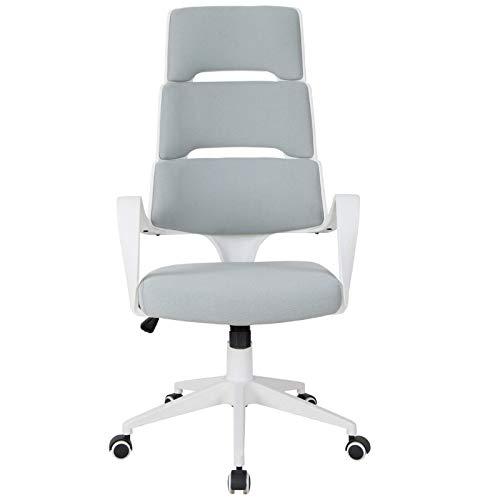 QLIGAH High Back Office Chair, Arbeit Executive 360 Swivel Spandex-Stoff Ergonomischer Moderner Computersitz Home Office Pc-Schreibtischstuhl