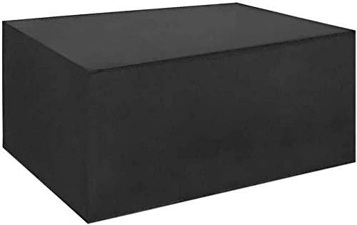 315x315x90cm Cubiertas cuadradas para muebles de jardín 420D Cubierta grande para muebles de ratán para exteriores para rayos ultravioleta de nieve a prueba de viento a prueba de agua, Negro