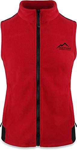 normani Fleece Weste für Damen mit Reißverschlusstaschen, Stehkragen, ZIP-T3K System Farbe Rot Größe XXL