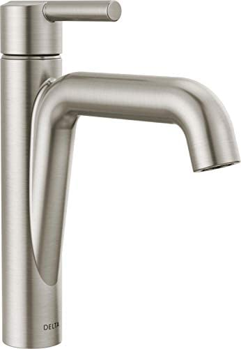 Delta Faucet Nicoli Single Hole Bathroom Faucet Brushed Nickel Single Handle Bathroom Faucet product image