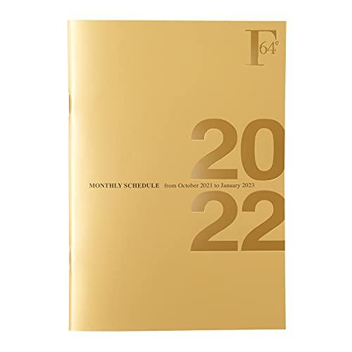 キョクトウ 手帳 2022年 FOBCOOP 2021年10月始まり B6 マンスリー 金 PBF75GO22