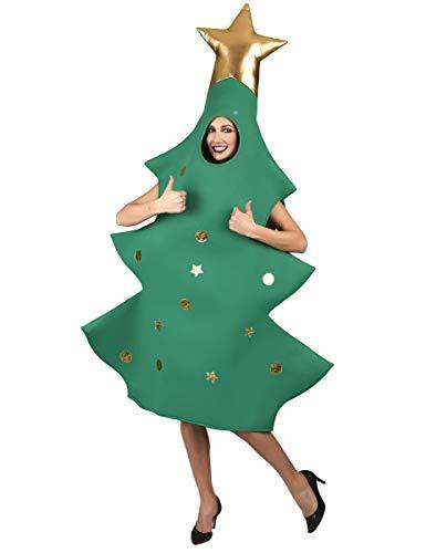 Vegaoo - Disfraz árbol de Navidad 3D Adulto - Única