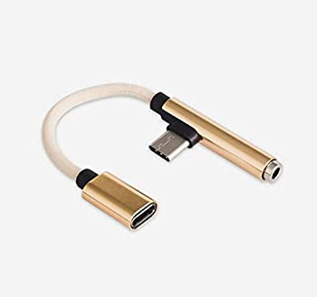 USB Type-C oneplus 6t Accessories Headphone Audio coversion Adapter Compatible for Google Pixel 2 XL 3 XL 4 XL Galaxy Note 10 S6 Oneplus 6T 7 HTC U11 U12 Essential PH-1  Golden
