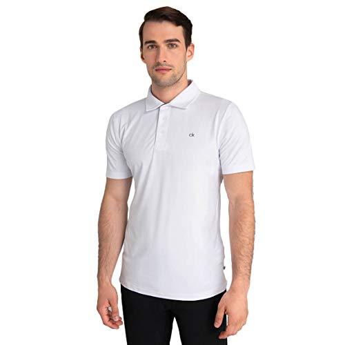 Calvin Klein Golf Hombre G Newport Camiseta Polo Casual Blanco XL